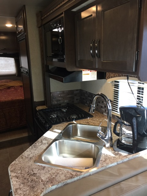 2017 Thor Chateau, 30 Ft. Class C Motorhome RV Rental Kitchen