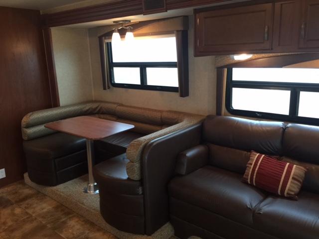 2014 Jayco Redhawk 29XK, 32 Ft. Class C Motorhome RV Rental Living/Dining Area