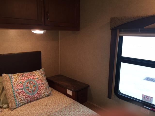 2014 Jayco Redhawk 29XK, 32 Ft. Class C Motorhome RV Rental Master Bedroom